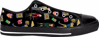 Daria Black Low Tops