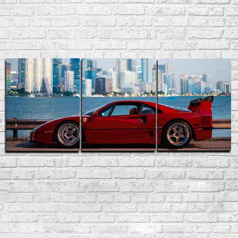 Ferrari F40 3 Piece Canvas Set