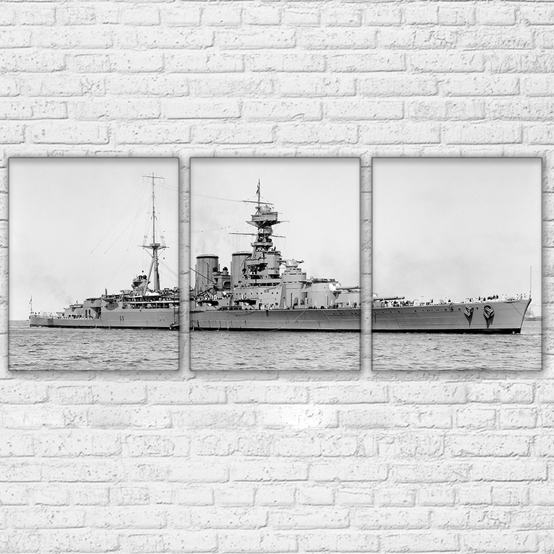 HMS Hood 3 Piece Canvas Set