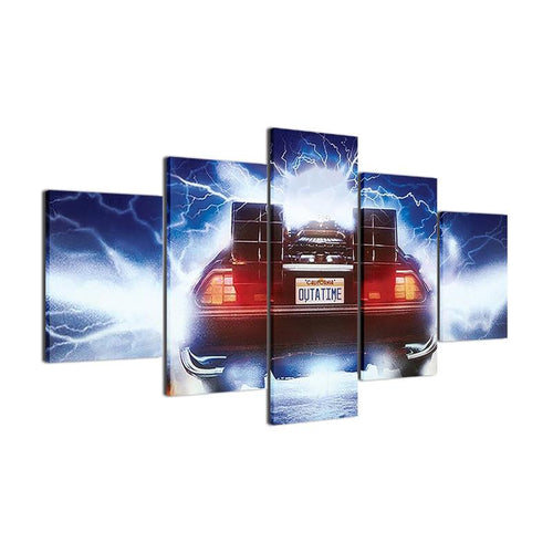 Back To The Future Time Machine Canvas