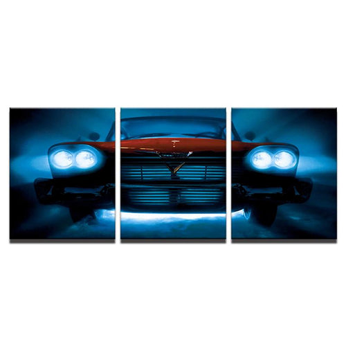 Christine 1958 Plymouth Fury 3 Piece Canvas
