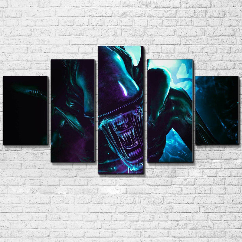Alien Xenomorph 5 Piece Canvas Set - Totally Awesome Retro