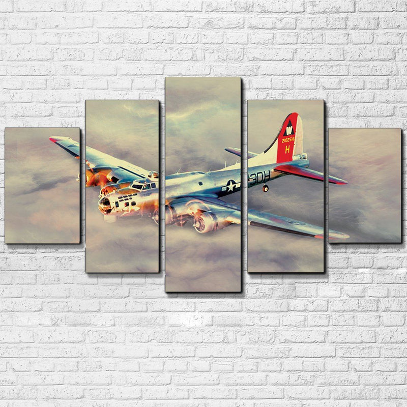 B-17 Flying Fortress 5 Piece Canvas Set - Totally Awesome Retro