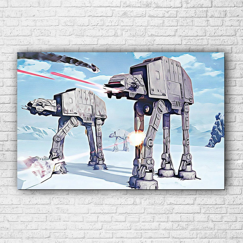 Star Wars Battle of the Hoth Painted CANVAS - Totally Awesome Retro