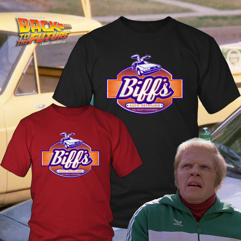 Back to the Future Biff's Auto Detailing Shirts & Hoodies - Totally Awesome Retro
