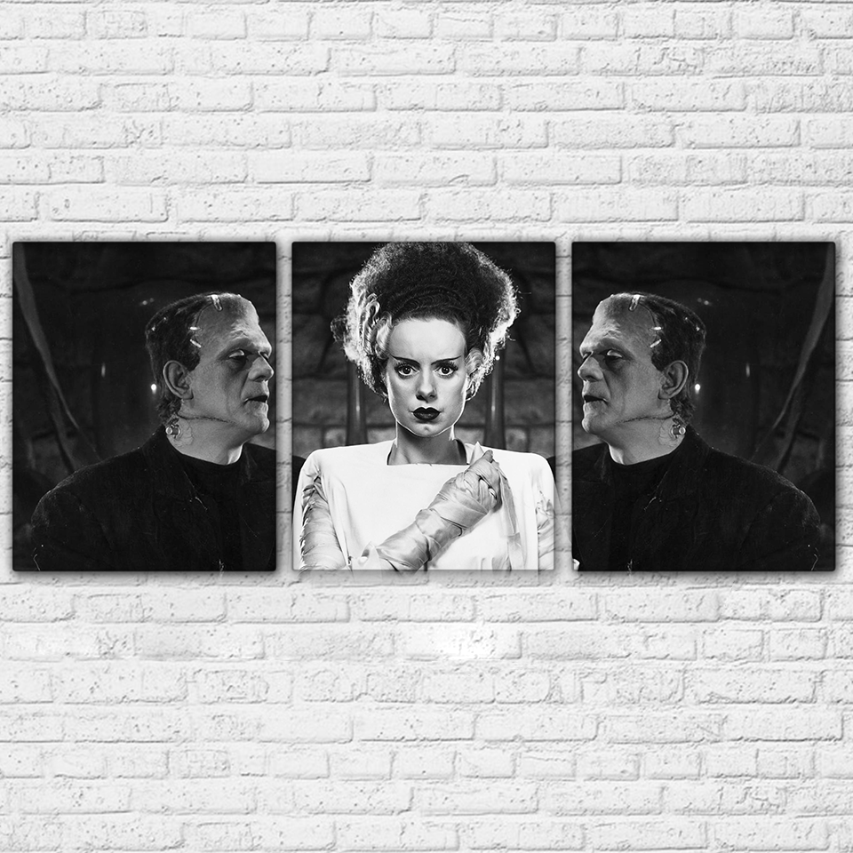 Bride Of Frankenstein 3 Piece Canvas Set