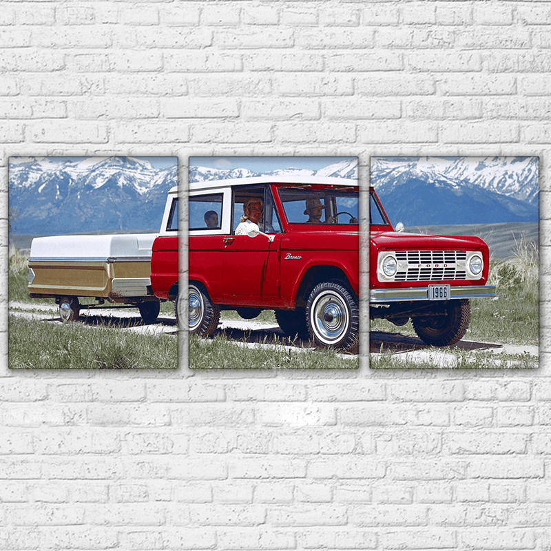 1966 Ford Bronco 3 Piece Canvas Set - Totally Awesome Retro