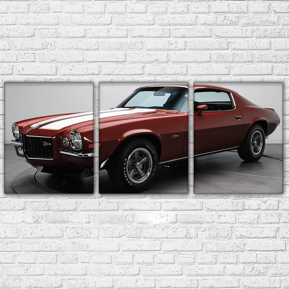 1970 Camaro Ad 3 Piece Canvas Set