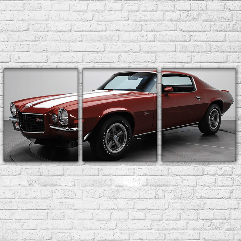 1970 Camaro Ad 3 Piece Canvas Set - Totally Awesome Retro