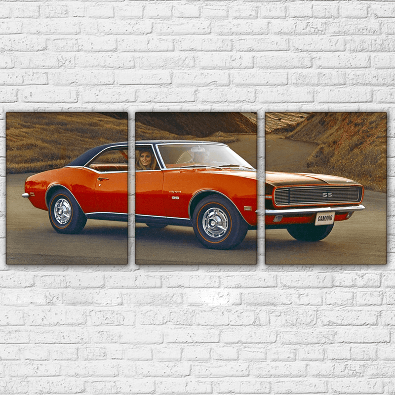 1967 Camaro Ad 3 Piece Canvas Set - Totally Awesome Retro