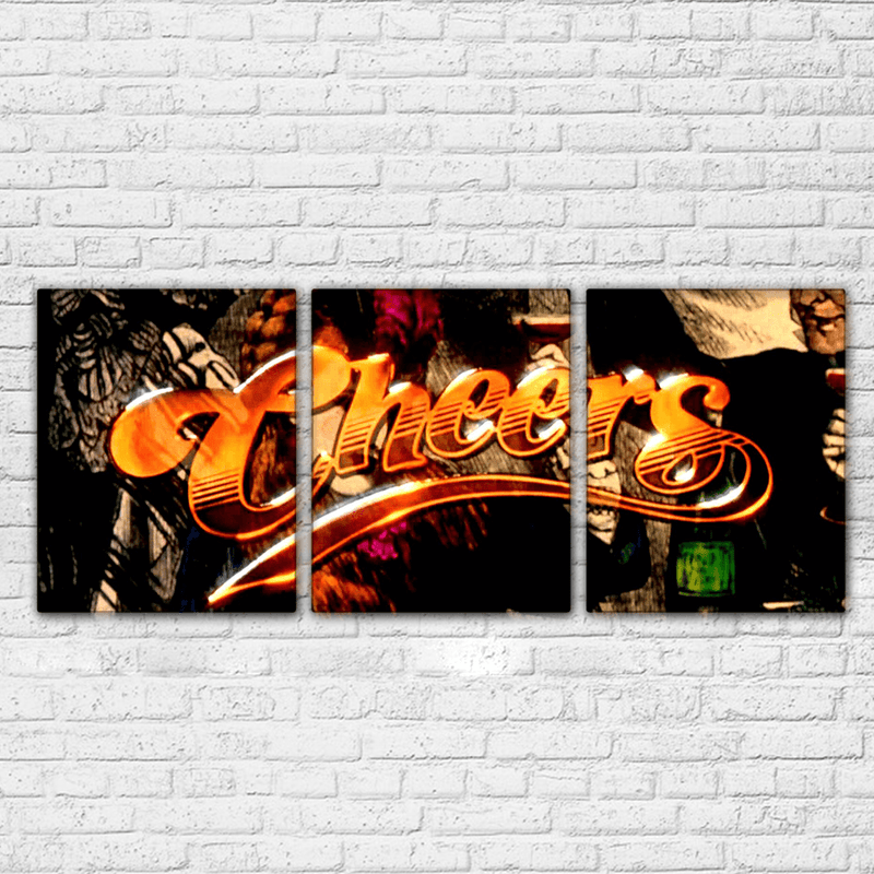 Cheers 3 Piece Canvas Set - Totally Awesome Retro
