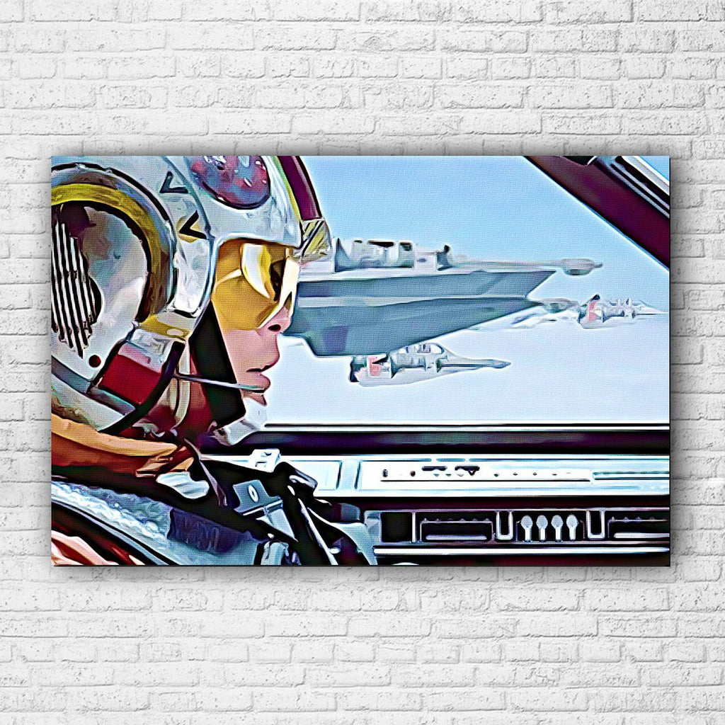 Star Wars Empire Strikes Back Flight Painted CANVAS - Totally Awesome Retro