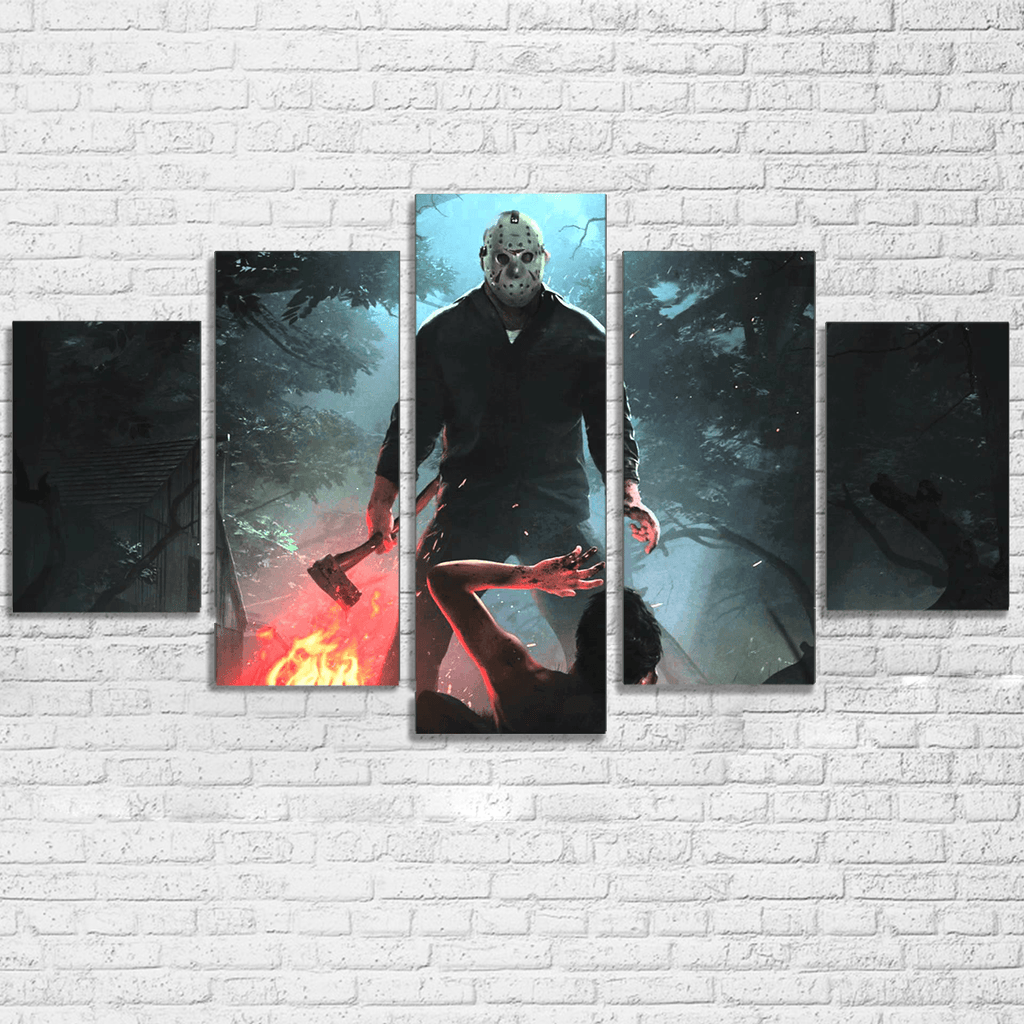 Friday the 13th 5 Piece Canvas Set
