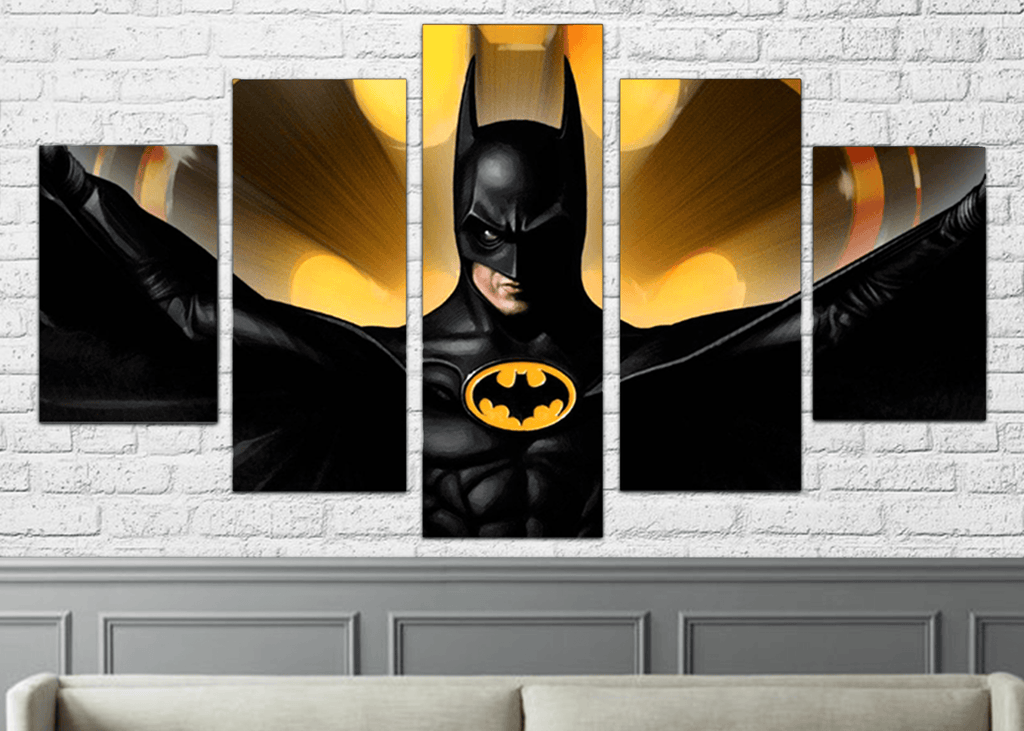 The Bat Of Gotham 5pc Canvas - Totally Awesome Retro