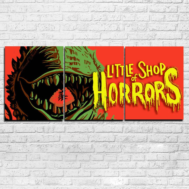 Little Shop Of Horrors 3PC Canvas Set - Totally Awesome Retro
