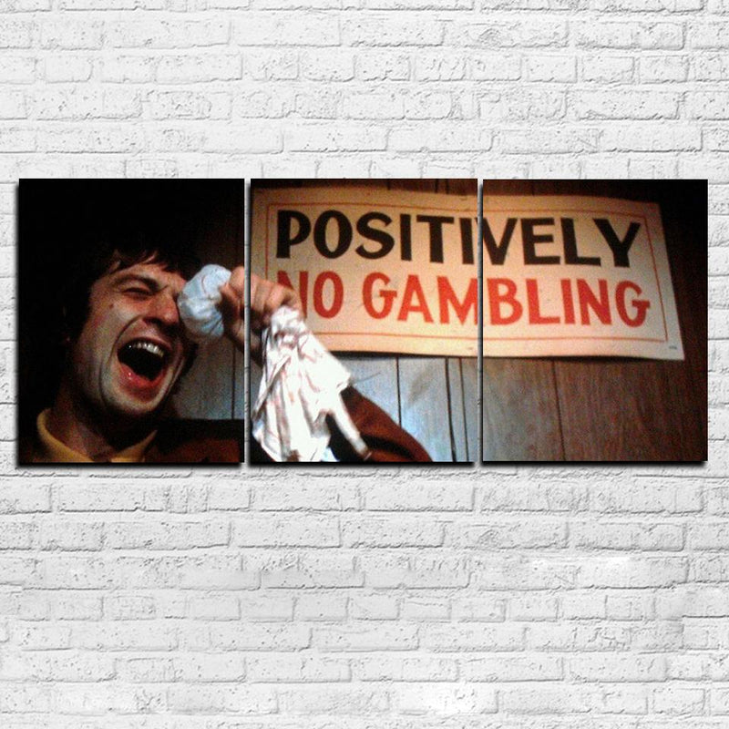 Mean Streets No Gambling 3 Piece Canvas Set