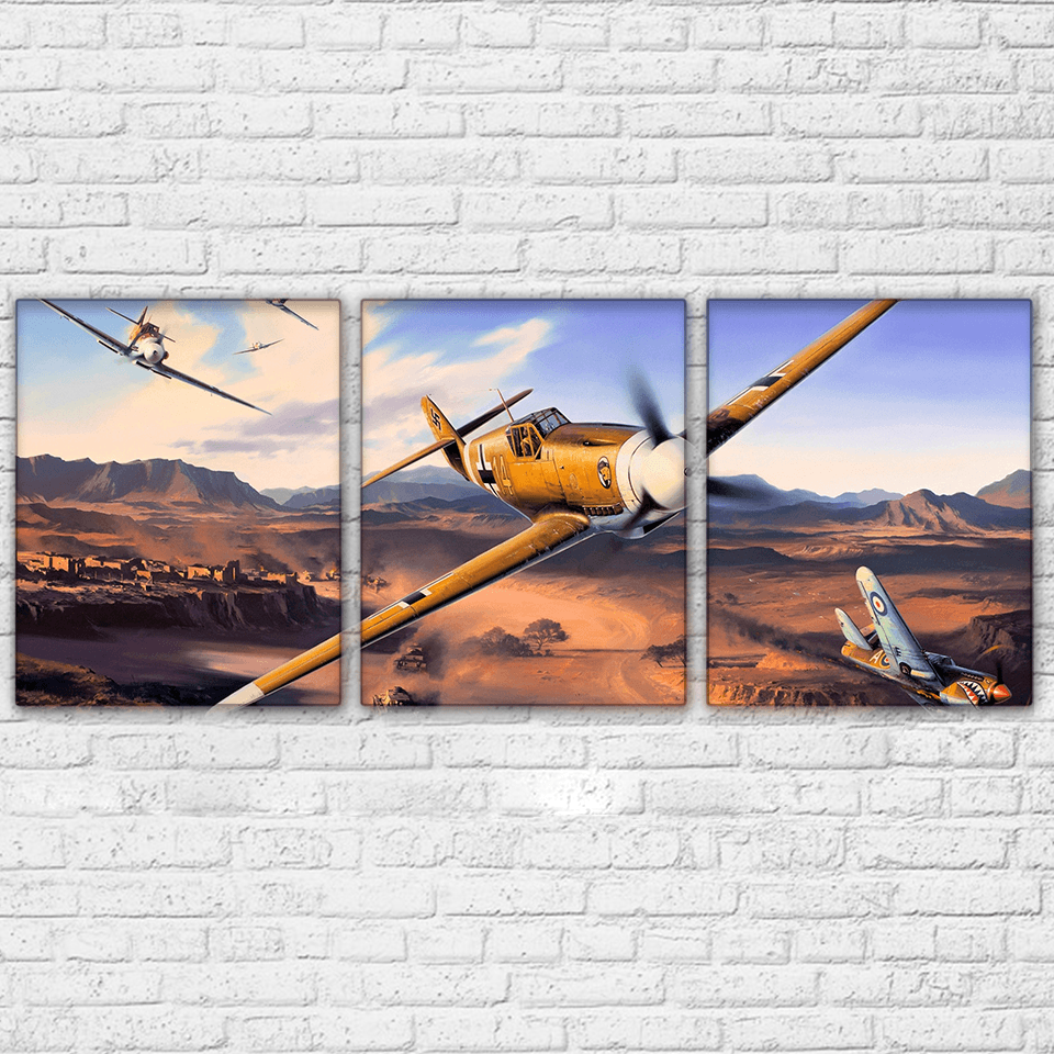 Messerschmitt BF 109 3 Piece Canvas Set