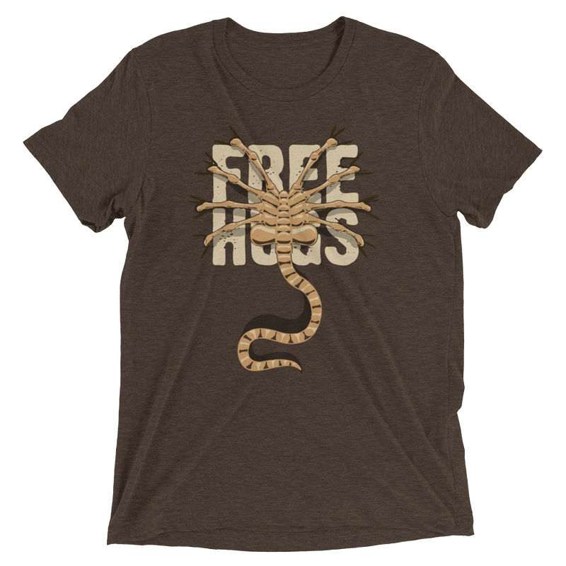 Alien Free Hugs Short sleeve t-shirt - Totally Awesome Retro