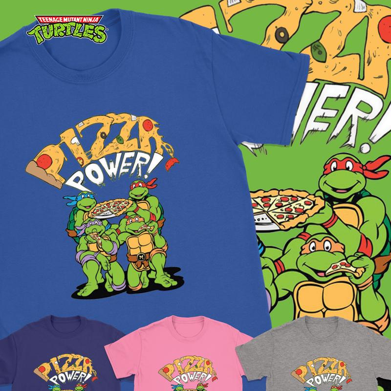 TMNT - Pizza Power Tshirt - Totally Awesome Retro