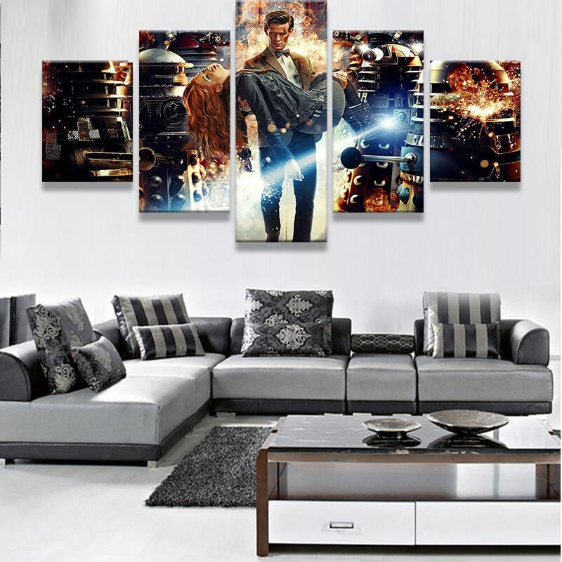 Dr Who 11th Doctor 5 Piece Canvas