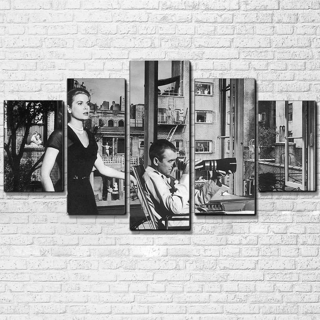 "Alfred Hitchcock ""Rear Window""  5 Piece Canvas Set - Totally Awesome Retro"