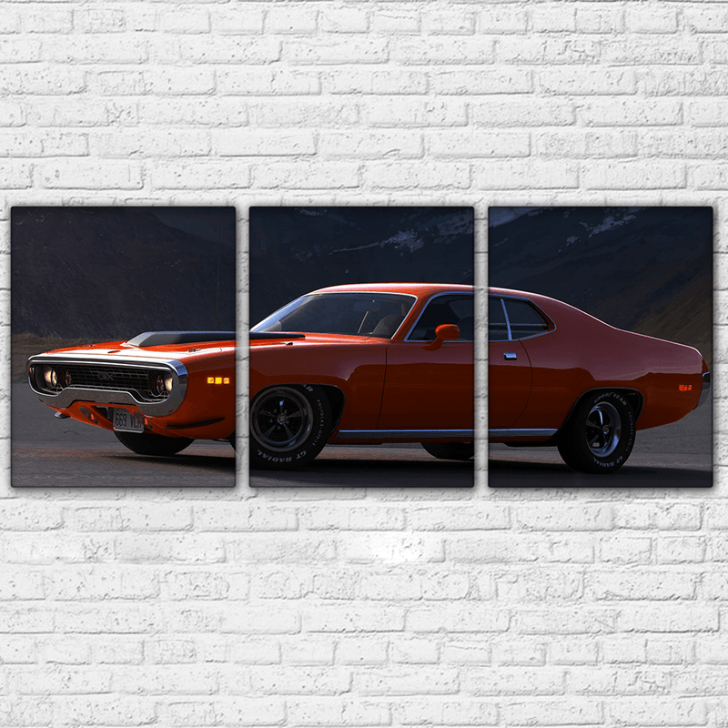 Plymouth Road Runner GTX 3 Piece Canvas