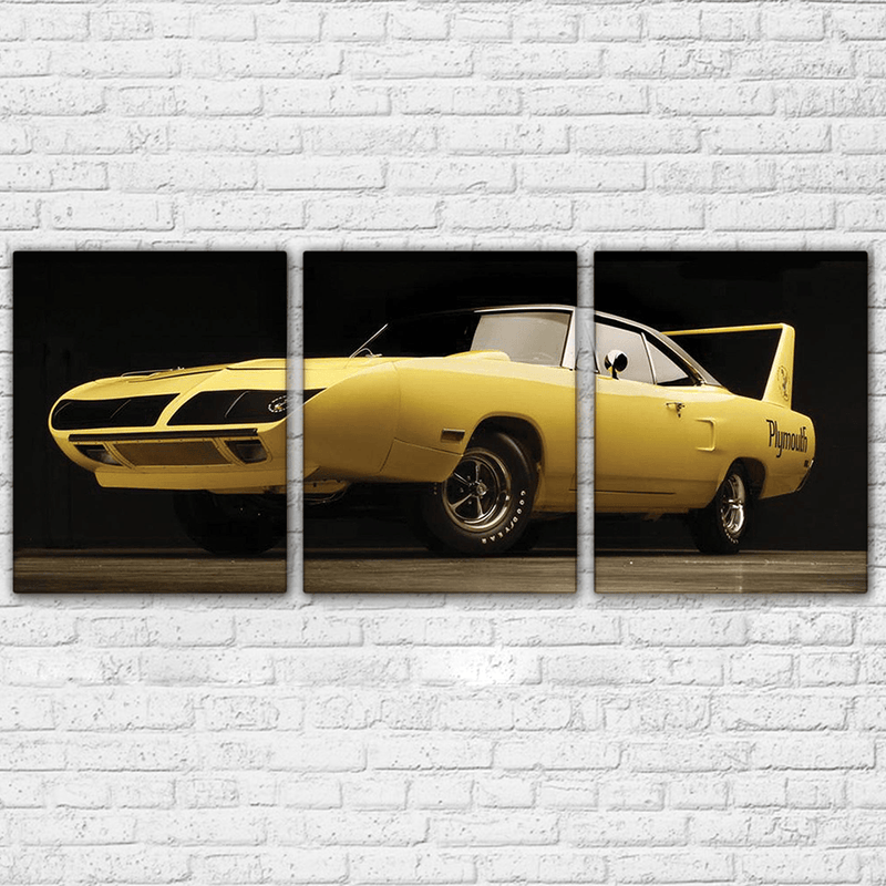 Plymouth Road Runner 3 Piece Canvas Yellow