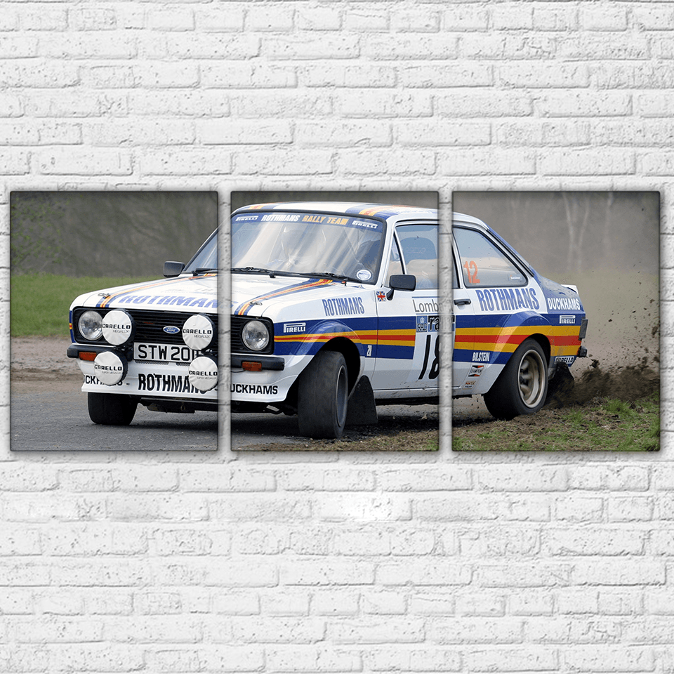 Ford Escort MK2 RS1800 Rally 3 Piece Canvas Set