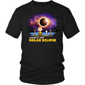 Solar Eclipse 2017 Charlie Brown & Snoopy Tshirts & Hoodies