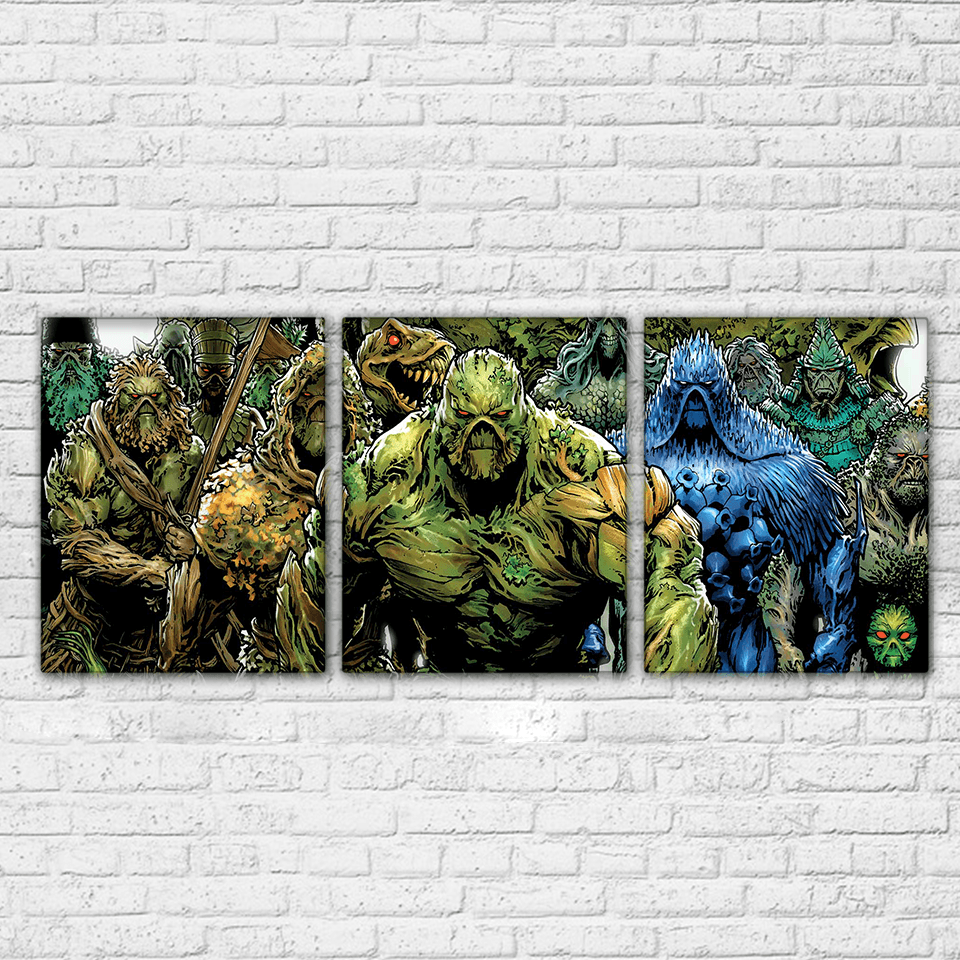 Swamp Thing 3 Piece Canvas Set Totally Awesome Retro