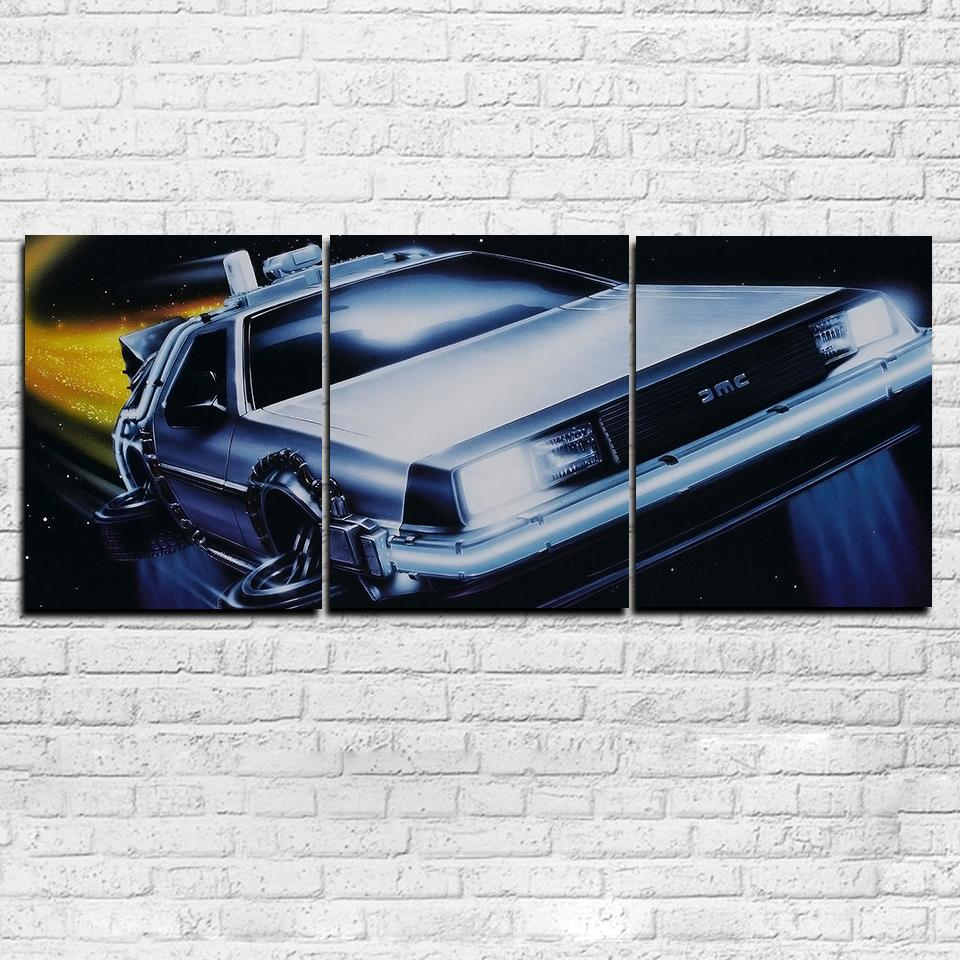 BTTF Flying Time Machine 3 Piece Canvas Set - Totally Awesome Retro