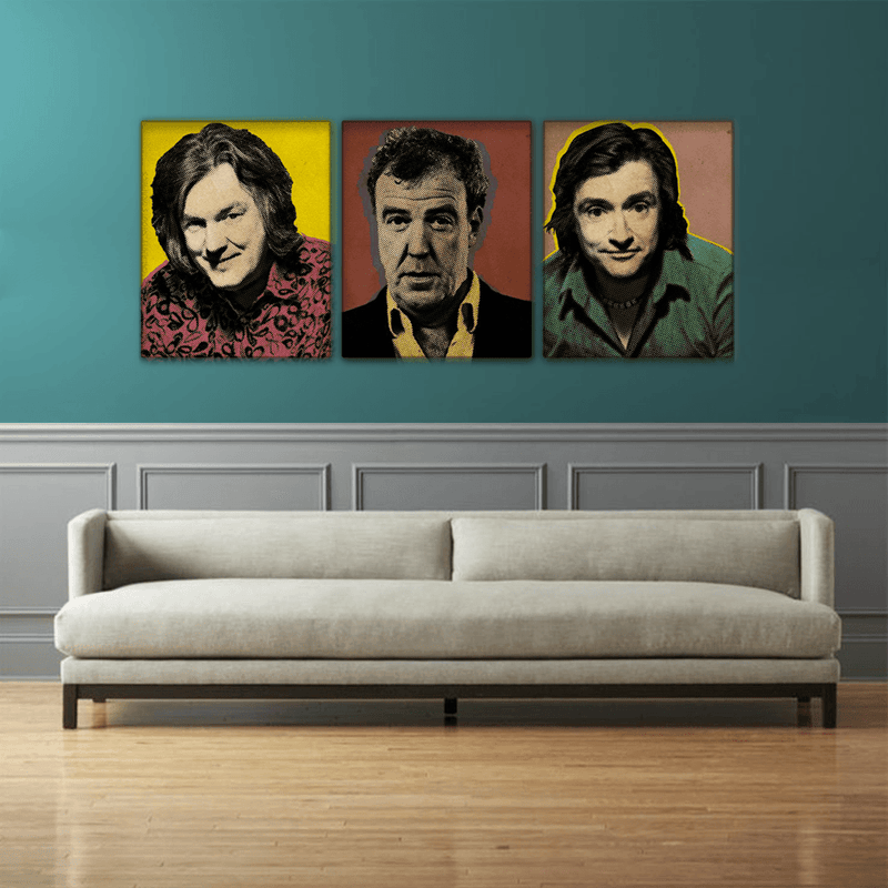 Top Gear Pop 3 PC CANVAS - Totally Awesome Retro