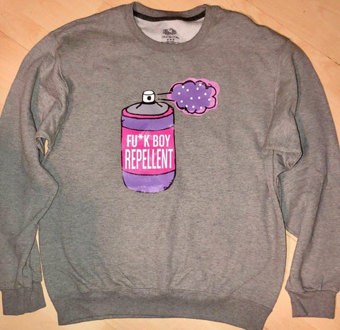 Grey F*ck Boy Repellent Sweater by UGQ for AllThingsTrill.com