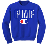 Blue Pimp C Champion Crewneck Sweatshirt