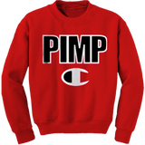 Red Pimp C Champion Crewneck Sweatshirt