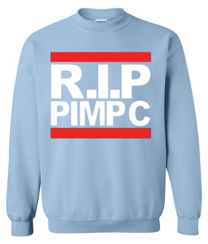 RIP Pimp C Sweatshirt in Houston Oilers baby blue