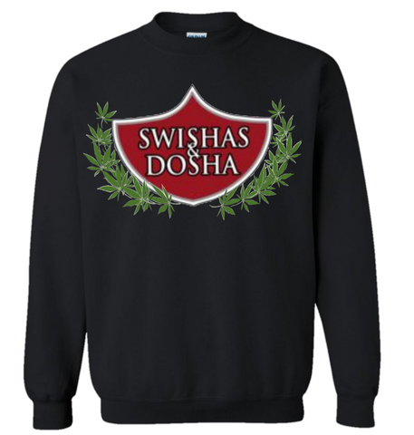 Swishas and Dosha Black Sweatshirt