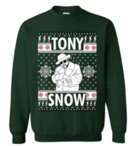 Hunter Green Pimp C Tony Snow Trill Christmas Sweater