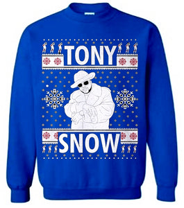 True Blue Tony Snow Trill Christmas Sweater