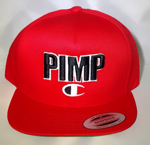 red pimp c champion snapback hat cap