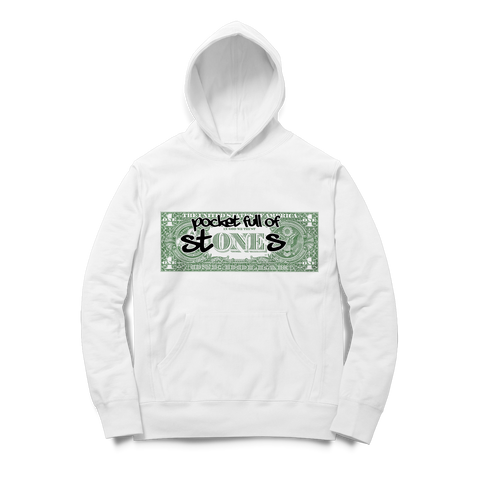 White Pocket Full of Stones Hoodie