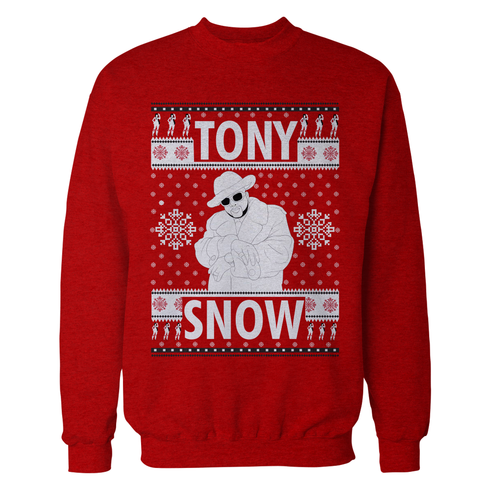 Pimp C Red Turn Heads Tony Snow Trill Christmas Sweater
