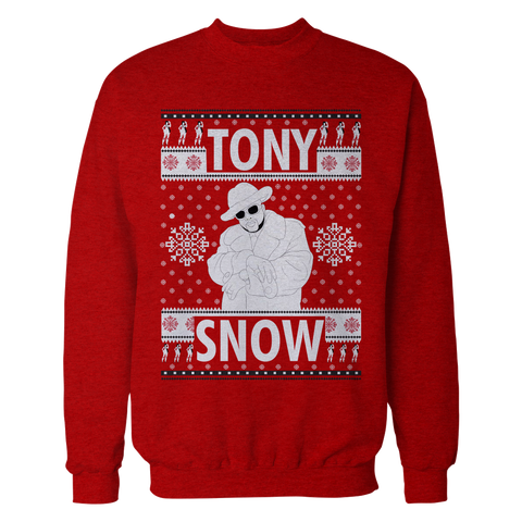 Tony Snow Pimp Christmas Sweater (red)