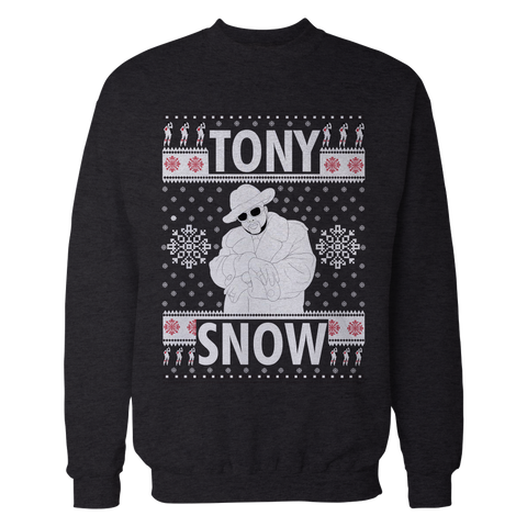 Pimp C Black Tony Snow Trill Christmas Sweatshirt