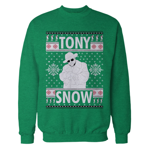 Tony Snow Pimp Christmas Sweater (money green)