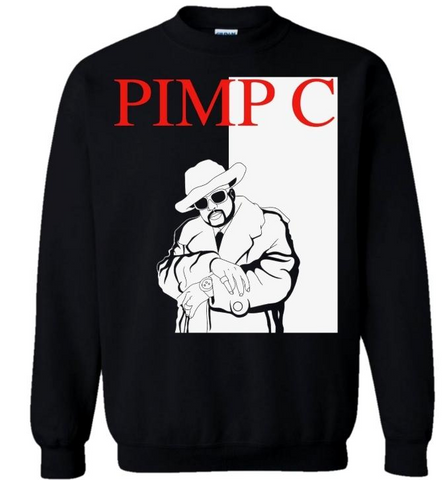Black Pimp C inspired Tony Montana of the South Crewneck Sweatshirt