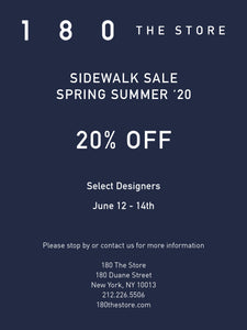 Sidewalk Sale event, call 212 226 5506 for more info.