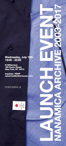 Nanamica Archive event, call 212 226 5506 for more info.