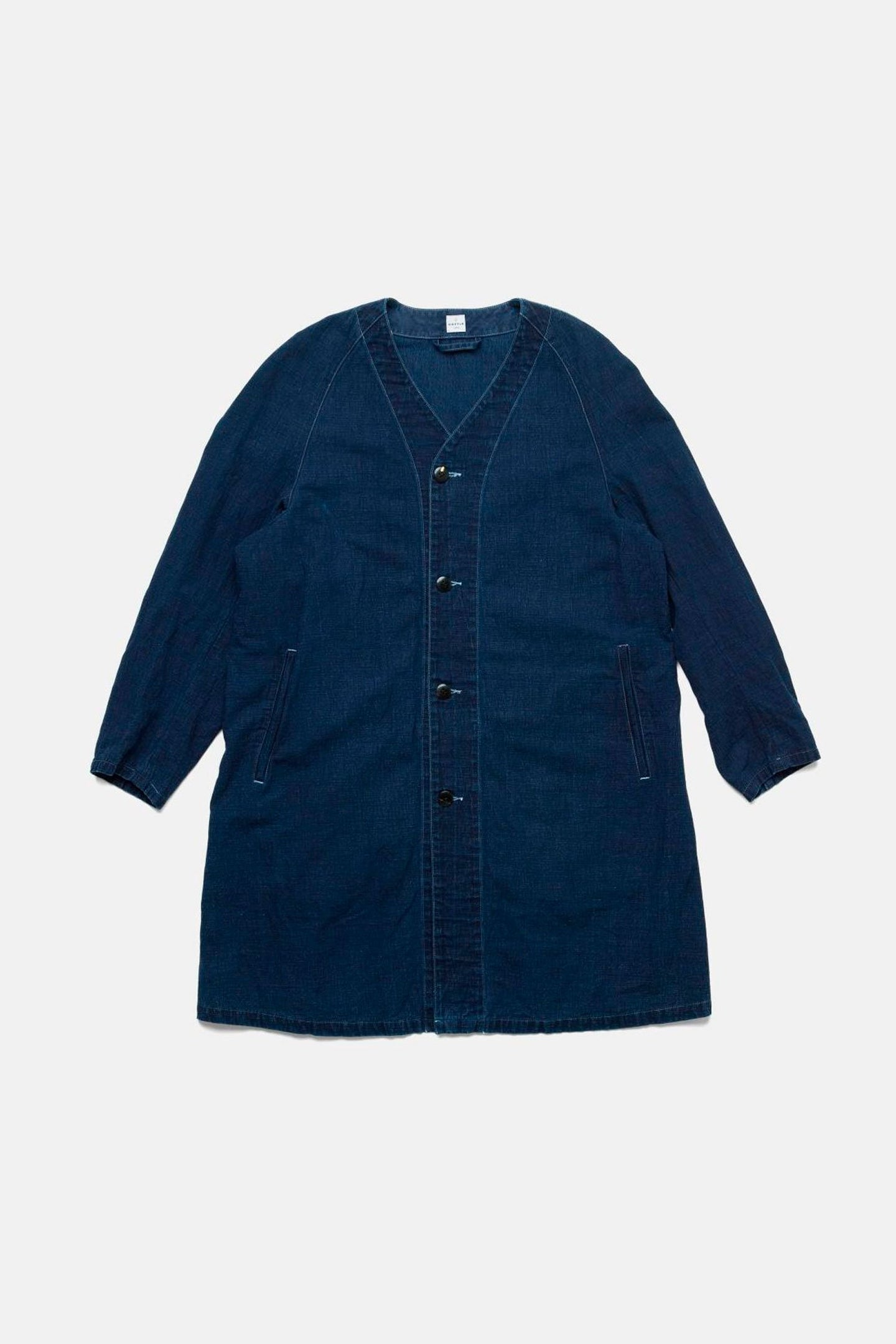 Itto Unsai Town Coat in Authentic Indigo by Cottle