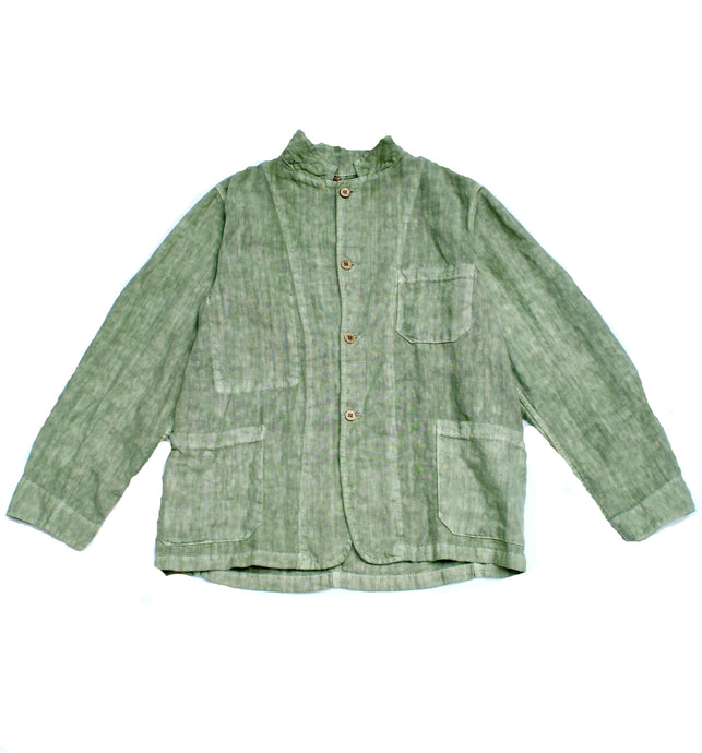 Sunday French Linen Worker Oversized Jacket Sage